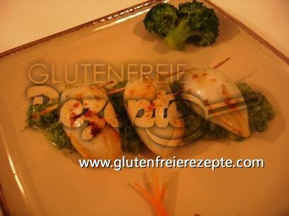Glutenfreie Gefüllte Tintenfische Mit Broccoli Püree
