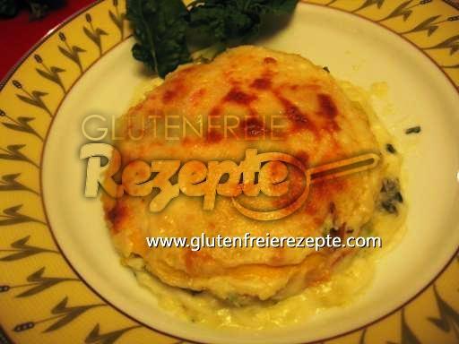 Glutenfreie Lasagne Mit Squaquerone, Spinat Und Kartoffel